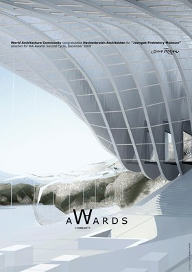 The Jeongok Prehistory Museum wins the World Architecture Community Award 2008